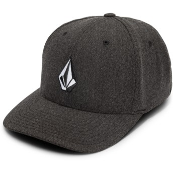 Volcom Curved Brim Charcoal Heather Full Stone Hthr Xfit Fitted Cap schwarz