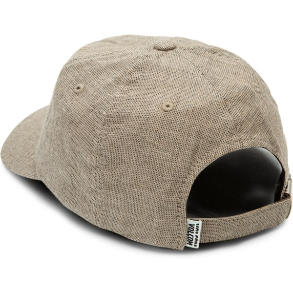 volcom-curved-brim-clay-pixel-stone-adjustable-cap-grau