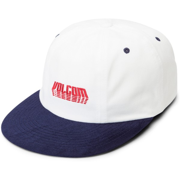 volcom-curved-brim-midnight-blau-shift-stone-adjustable-cap-weib-mit-marineblauem-schirm