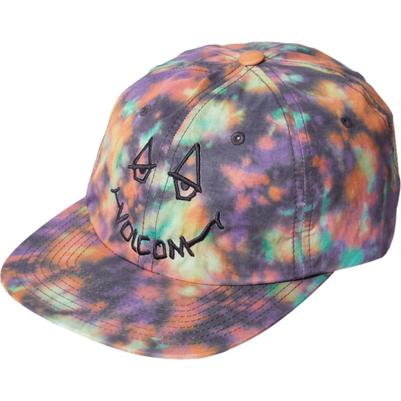 volcom-flat-brim-schwarz-chill-camper-purple-adjustable-cap-bunt