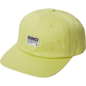 Volcom Curved Brim Shadow Lime Case Adjustable Cap gelb