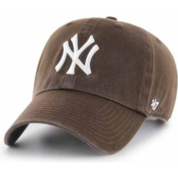 47-brand-curved-brim-dunkel-new-york-yankees-mlb-clean-up-cap-braun