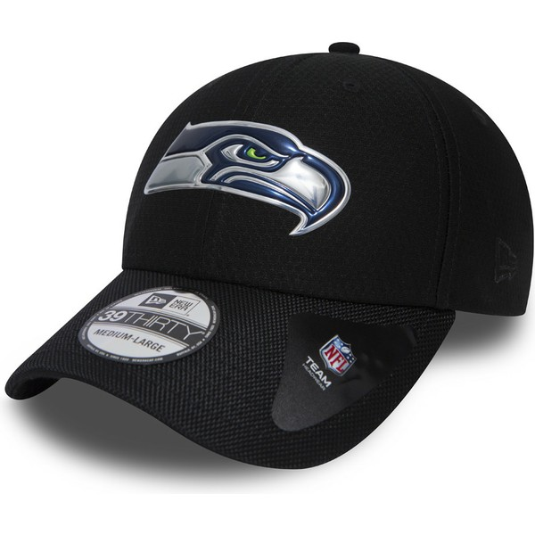 new-era-curved-brim-39thirty-black-coll-seattle-seahawks-nfl-fitted-cap-schwarz