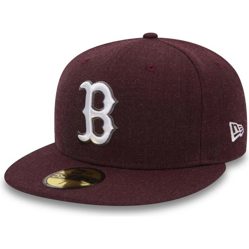 new-era-flat-brim-59fifty-seasonal-heather-boston-red-sox-mlb-fitted-cap-violett