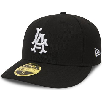 New Era Curved Brim 59FIFTY Coop Wool Los Angeles Dodgers MLB Fitted Cap schwarz