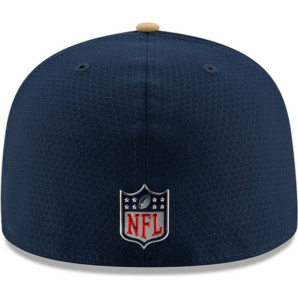 new-era-flat-brim-59fifty-sideline-los-angeles-rams-nfl-fitted-cap-blau
