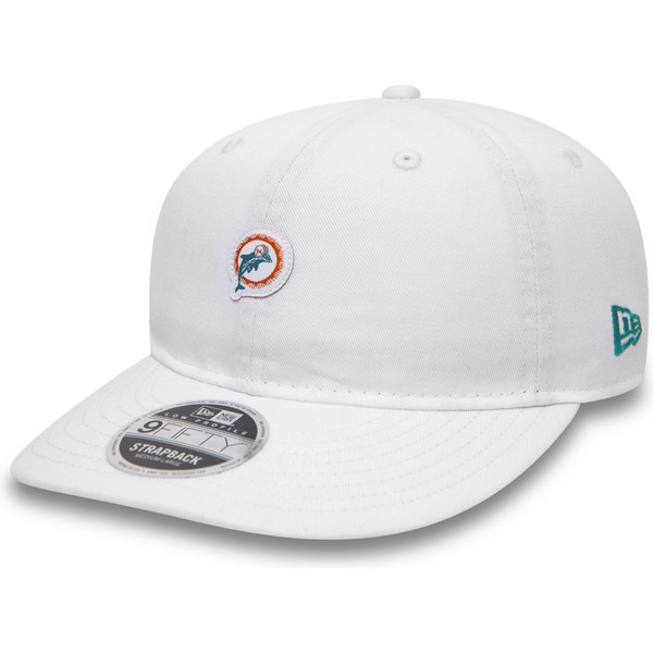 new-era-flat-brim-9fifty-low-profile-unstructured-miami-dolphins-nfl-snapback-cap-weib