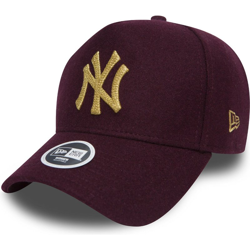new-era-curved-brim-9forty-melton-a-frame-new-york-yankees-mlb-adjustable-cap-verstellbar-kastanienbraun