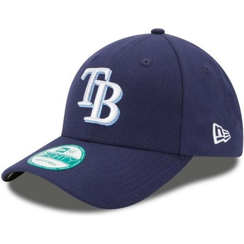 New Era Curved Brim 9FORTY The League Tampa Bay Rays MLB Adjustable Cap verstellbar marineblau