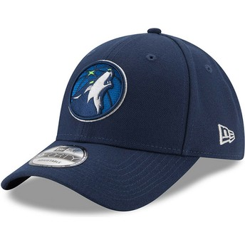 New Era Curved Brim 9FORTY The League Minnesota Timberwolves NBA Adjustable Cap verstellbar marineblau