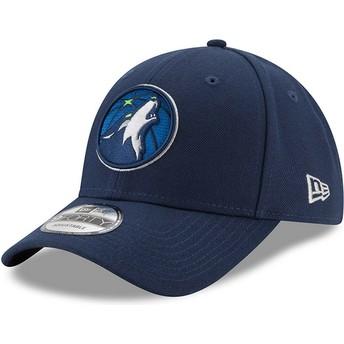 New Era Curved Brim 9FORTY The League Minnesota Timberwolves NBA Adjustable Cap verstellbar marineblau