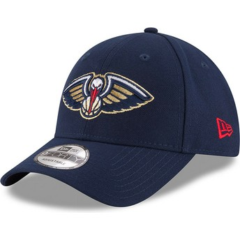 New Era Curved Brim 9FORTY The League New Orleans Pelicans NBA Adjustable Cap verstellbar marineblau