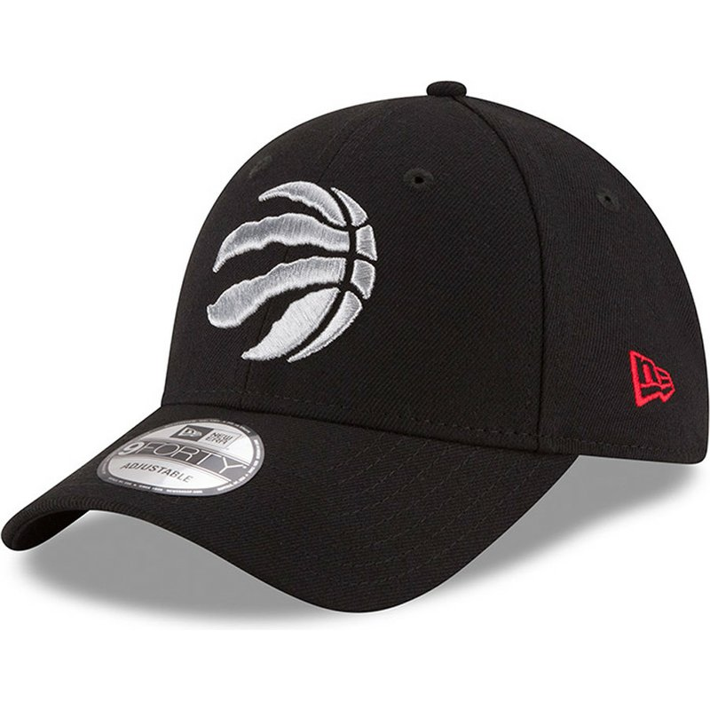 new-era-curved-brim-9forty-the-league-toronto-raptors-nba-adjustable-cap-verstellbar-schwarz