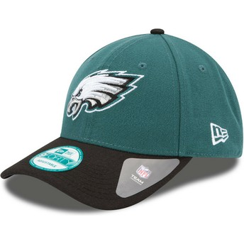 New Era Curved Brim 9FORTY The League Philadelphia Eagles NFL Adjustable Cap verstellbar grün und schwarz