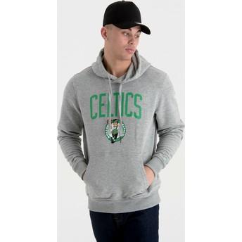 New Era Pullover Hoodie Kapuzenpullover Boston Celtics NBA Sweatshirt grau