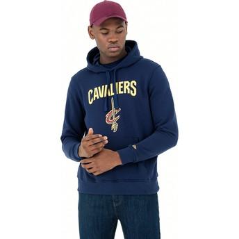 New Era Pullover Hoodie Kapuzenpullover Cleveland Cavaliers NBA Sweatshirt blau