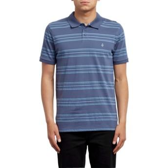 Volcom Deep Blue Wowzer Stripe Poloshirt blau