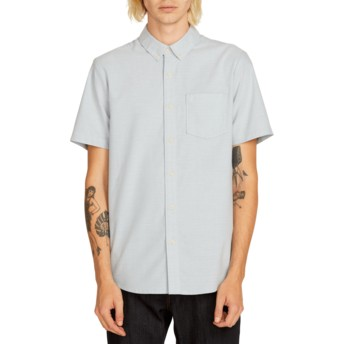 Volcom Wrecked Indigo Everett Oxford Kurzärmliges Shirt blau