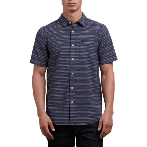 volcom-deep-blue-sable-kurzarmliges-shirt-marineblau-