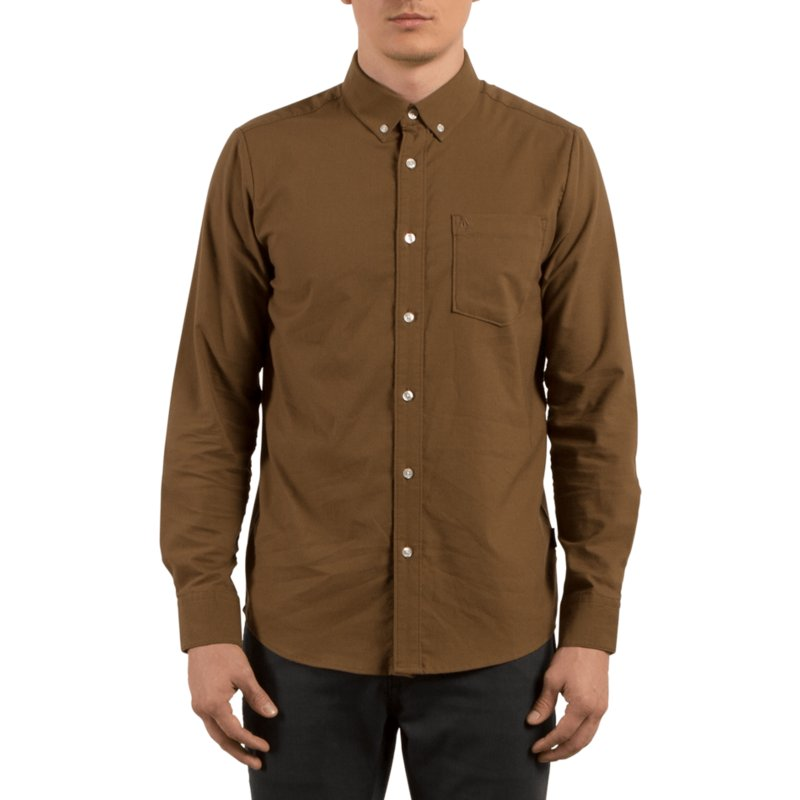 volcom-mud-oxford-stretch-longsleeve-shirt-braun