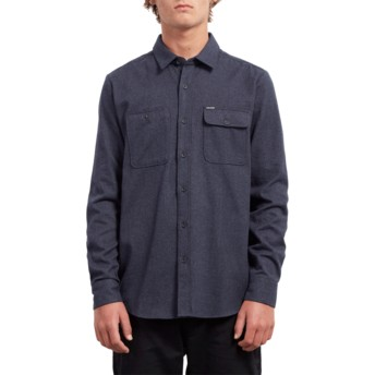 Volcom Midnight Blue Hickson Update Longsleeve Shirt marineblau