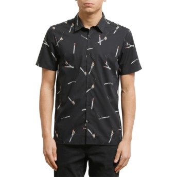 Volcom Black Waits Kurzärmliges Shirt schwarz