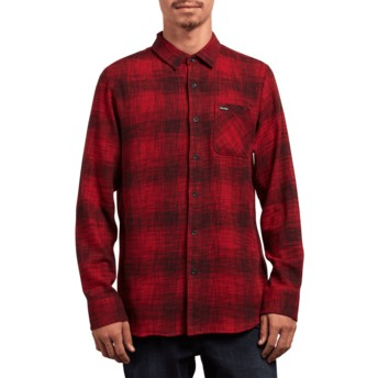 Volcom Engine Red Buffalo Glitch Longsleeve Shirt rot