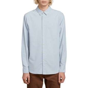 Volcom Wrecked Indigo Oxford Stretch Longsleeve Shirt blau