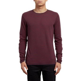 Volcom Crimson Harweird Stripe Sweater rot