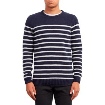 Volcom Navy Edmonder Striped Sweater marineblau
