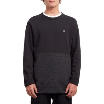 Volcom Sulfur Black Single Stone Division Sweatshirt schwarz