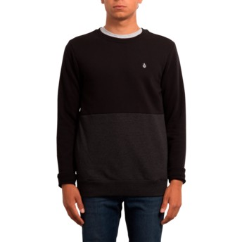 Volcom Black Single Stone Division Sweatshirt schwarz