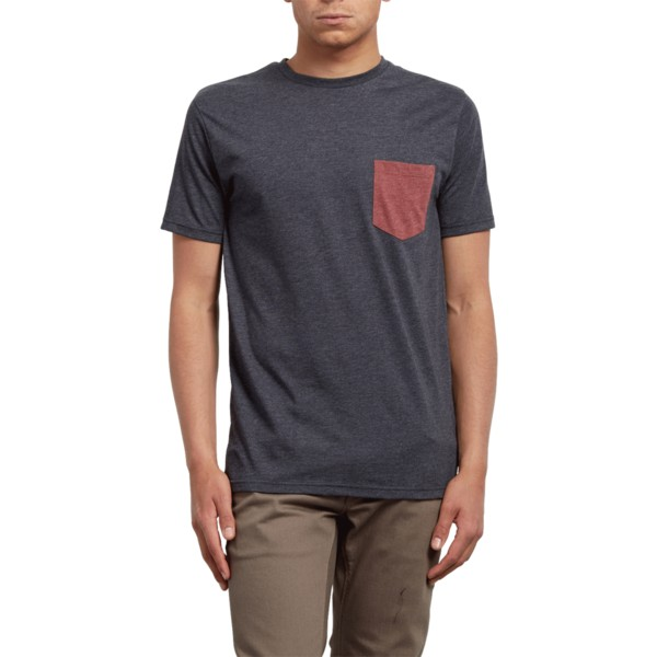 volcom-heather-black-pocket-t-shirt-schwarz