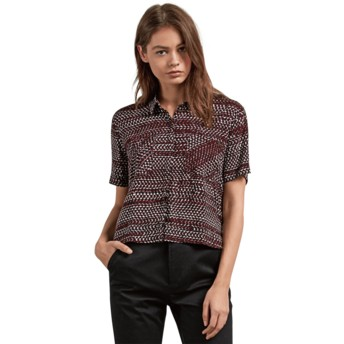 Volcom Burgundy Stone Resort Kurzärmliges Shirt rot