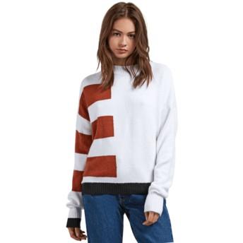 Volcom White Cold Band weiß Sweater