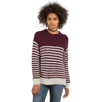 Volcom Plum Cold Daze Sweater grau und braun
