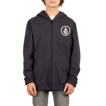 Volcom Kinder Navy Stone Zip Through Hoodie Kapuzenpullover Sweatshirt marineblau