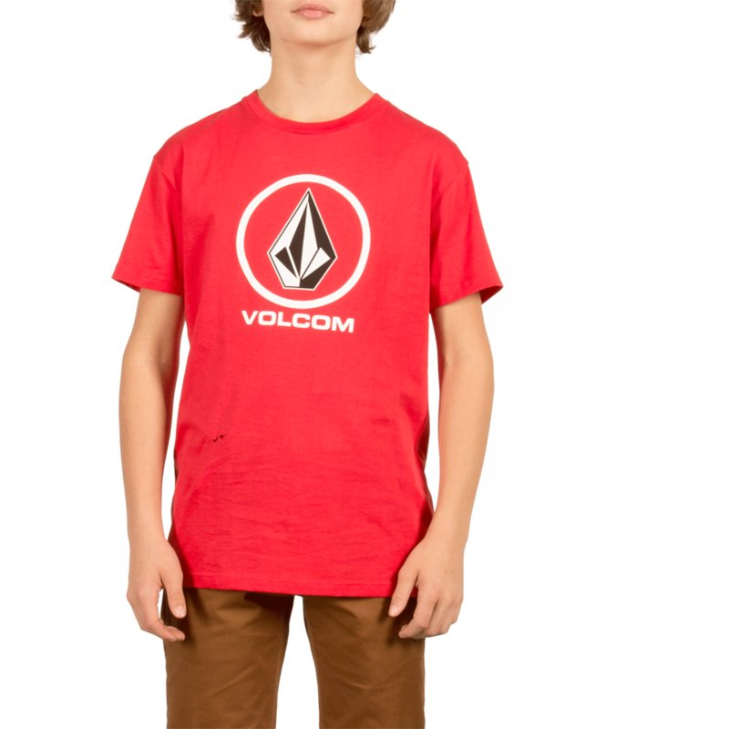 volcom-kinder-true-red-circle-stone-t-shirt-rot