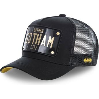 Capslab Batman Gotham City Plate BATP1 DC Comics Trucker Cap schwarz