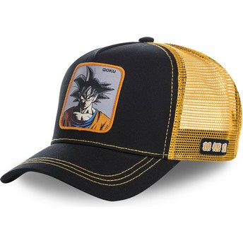 Capslab Son Goku GOKB Dragon Ball Trucker Cap schwarz und orange