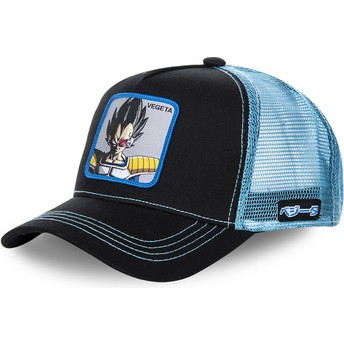 Capslab Vegeta VEGB Dragon Ball Trucker Cap schwarz und blau