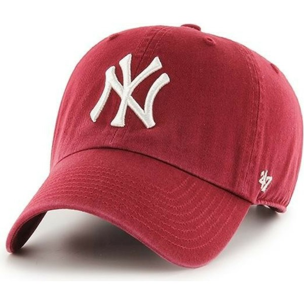 47-brand-curved-brim-new-york-yankees-mlb-clean-up-cardinal-cap-rot