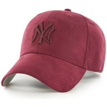 47 Brand Curved Brim Braunes Logo New York Yankees MLB Clean Up Ultra Basic Cap braun