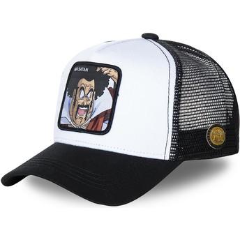 Capslab Mr. Satan SAT1 Dragon Ball Trucker Cap weiß und schwarz