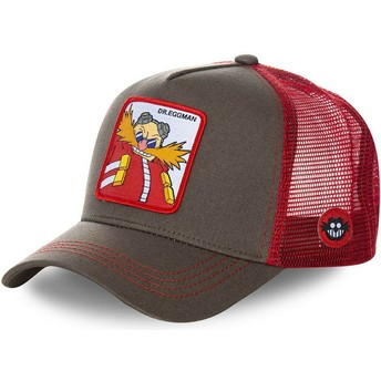 Capslab Doctor Eggman EGG Sonic the Hedgehog grau und Trucker Cap rot