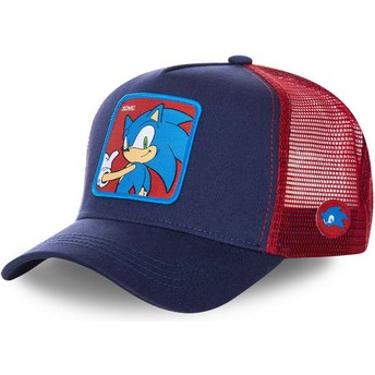 Capslab Sonic SO1 Sonic the Hedgehog Trucker Cap marineblau und rot