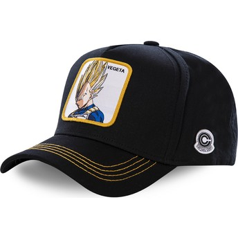 Capslab Curved Brim Vegeta Super Saiyan VE2 Dragon Ball Snapback Cap schwarz