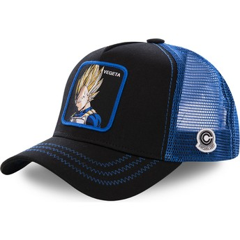 Capslab Vegeta Super Saiyan VE3 Dragon Ball Trucker Cap schwarz und blau
