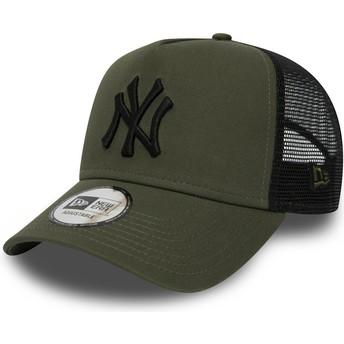 New Era League Essential A Frame de New York Yankees MLB Trucker Cap grün
