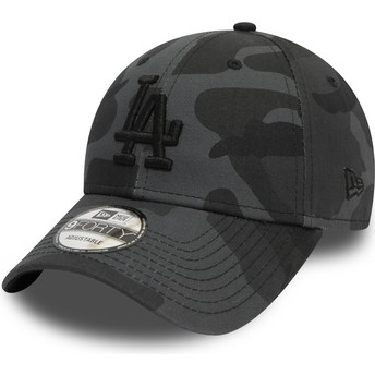 New Era Curved Brim Schwarzes Logo 9FORTY Essential de Los Angeles Dodgers MLB Adjustable Cap camo und schwarz